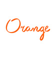 typography and orange in flat style vector image vector image