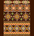 ukrainian eastern pattern vector image vector image