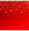 valentines day background with red heart for your vector image vector image
