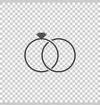 wedding rings icon isolated on transparent vector image