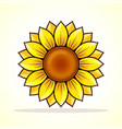 yellow sunflower icon design vector image