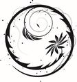 Blooming circle vector image
