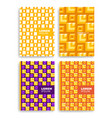 set of abstract square pattern for cards with vector image