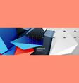 3d polygonal shape geometric background vector image vector image