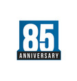 85th anniversary icon birthday logo vector image vector image