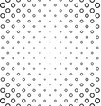 Abstract black and white ring pattern design vector image vector image