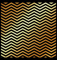 abstract gold color chevron pattern on black vector image
