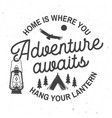 adventure awaits concept for vector image