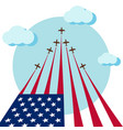 air show for celebrate the national day of usa vector image