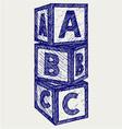 alphabet cubes with abc letters
