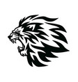 angry lion head roaring logo template line vector image