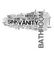 bathroom vanities let your powder room vanity vector image vector image