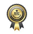 best seller rosette vector image vector image