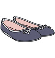 Blue ballet flats vector image vector image