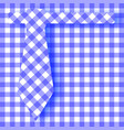 blue gingham farhers day background vector image
