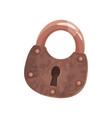 Bronze vintage old padlock