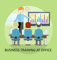 business training concept in flat design vector image vector image