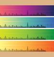 charleston multiple color gradient skyline banner vector image vector image