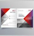 clean minimal bifold brochure design template vector image vector image