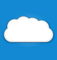 cloud icon cloud weather symbols vector image