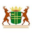 coat of arms of aa en hunze of netherlands vector image vector image