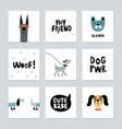 collection of cute dog cards vector image
