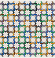 colorful moorish seamless mosaic ornament vector image