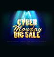 cyber monday sale promotion banne vector image