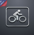 Cyclist icon symbol 3D style Trendy modern design vector image vector image