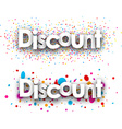 Discount paper banners vector image vector image