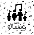 family is music cartoon concept musical note vector image