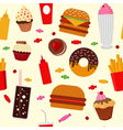 fast food seamless pattern with sweets candies vector image vector image