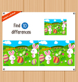 Find differences Happy easter vector image