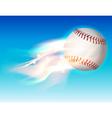 fire baseball sky vector image vector image