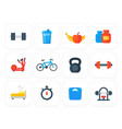 fitness gym training icons vector image vector image