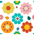 flowers seamless pattern colorful retro plant vector image vector image