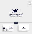 flying humming bird line art logo template icon vector image vector image