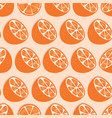 fruit seamless pattern orange halves with shadow vector image vector image