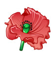 garden poppy icon cartoon style vector image