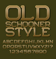 golden letters numbers beautiful roundish font vector image vector image