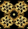 golden pattern on black colors with golden vector image