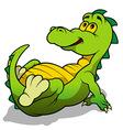 Green Dino vector image
