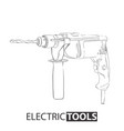 hand drawn drill vector image vector image