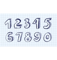 Hand drawn numbers vector | Price: 1 Credit (USD $1)