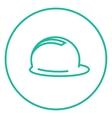 Hard hat line icon vector image vector image