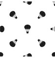 hot air balloon with basket pattern seamless black vector image vector image