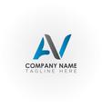 initial av letter logo with creative modern vector image vector image