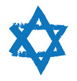 judaic symbol magen david or david star vector image