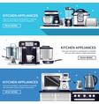 kitchenware horizontal banners set vector image vector image