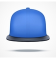 Layout of blue rap cap vector image vector image